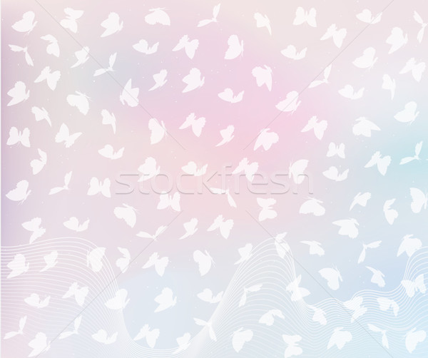 飛行 蝶 パステル 色 パターン 花 ストックフォト © Panaceadoll