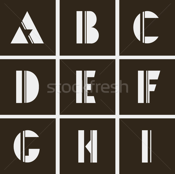 abstract alphabet. Letters of geometric shapes and lines Stock photo © Panaceadoll