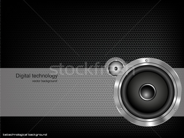 Foto d'archivio: Party · speaker · abstract · design · metal