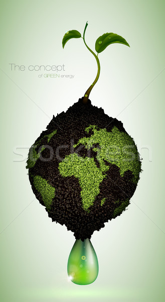 concept of green energy on the planet Stock photo © Panaceadoll