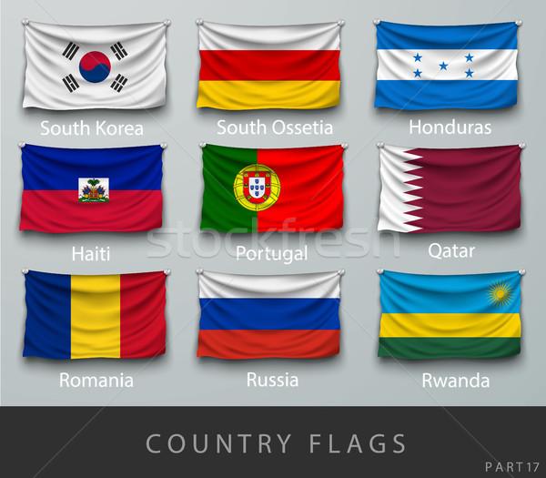 Stock fotó: Hullám · vidék · zászló · árnyékok · világ · Afrika