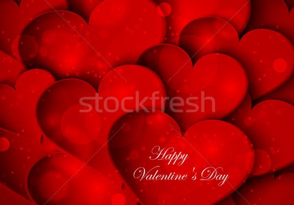 赤 心 バレンタイン 日 結婚式 抽象的な ストックフォト © Panaceadoll