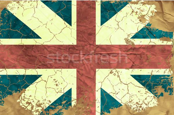 Klasszikus angol zászló háttér zászló piros retro Stock fotó © Panaceadoll