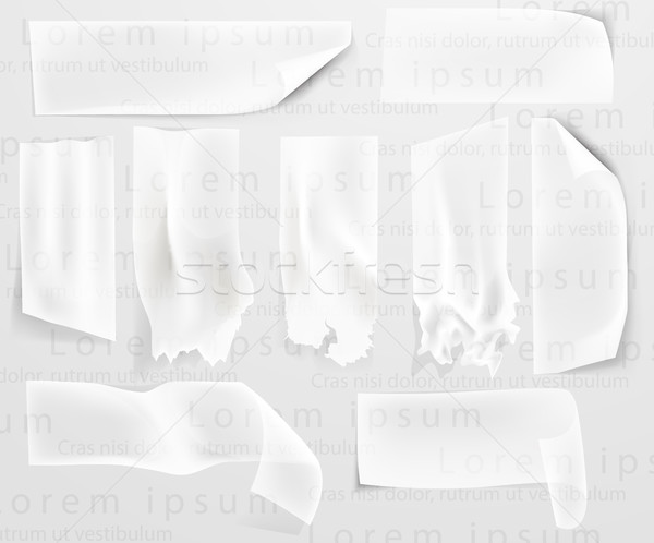 set of transparent adhesive tape and adhesive sellotape Stock photo © Panaceadoll