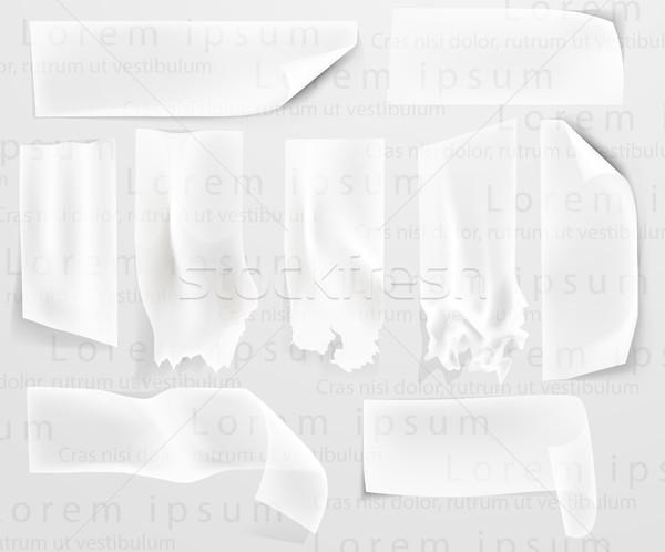 セット 透明な 接着剤 紙 グループ ストックフォト © Panaceadoll