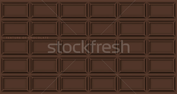 texture of chocolate bar with broken ends and text Stock photo © Panaceadoll
