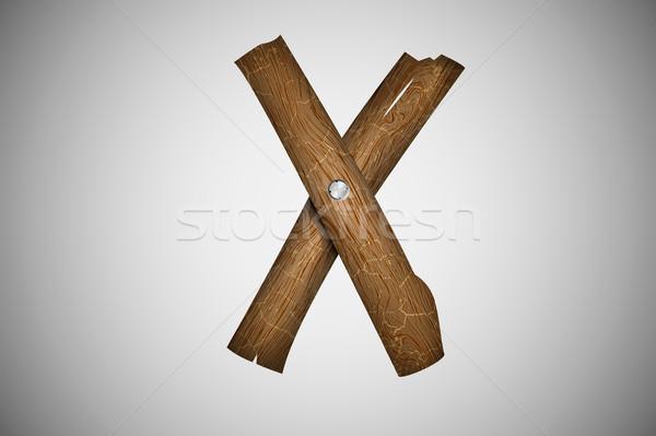 木製 アルファベット 手紙 テクスチャ ツリー 木材 ストックフォト © Panaceadoll