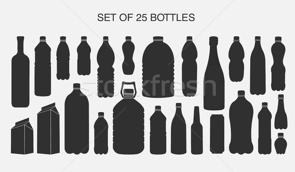 25 孤立した ボトル ベクトル セット ストックフォト © Panaceadoll