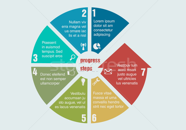 Progresso passos negócio modelo fundo Foto stock © Panaceadoll