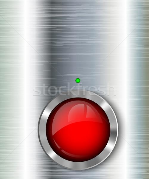 Pouvoir bouton lumière design maison technologie Photo stock © Panaceadoll