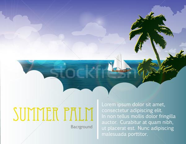 紺碧 ビーチ 砂の 水 自然 海 ストックフォト © Panaceadoll
