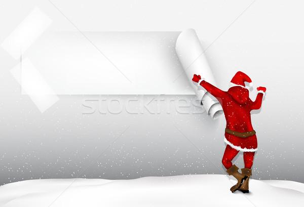 サンタクロース ギフト クリスマスツリー 食品 笑顔 幸せ ストックフォト © Panaceadoll