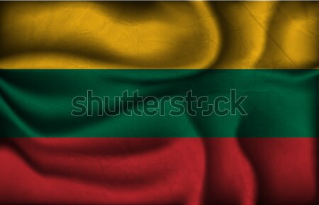 Stock photo: wave country flag with shadows