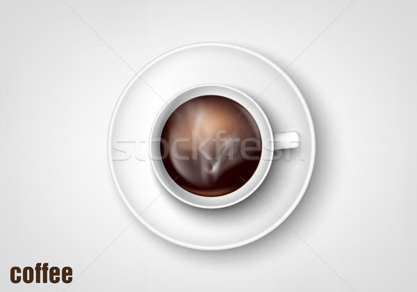 cup of coffee on a white background Stock photo © Panaceadoll
