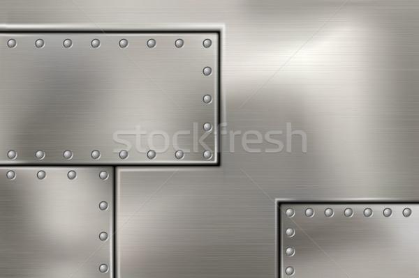 Acciaio metal texture costruzione abstract sfondo Foto d'archivio © Panaceadoll