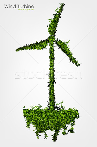 A Simple Grass Covered Wind Turbine Stock photo © Panaceadoll
