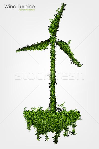 простой трава покрытый ветровой турбины аннотация природы Сток-фото © Panaceadoll