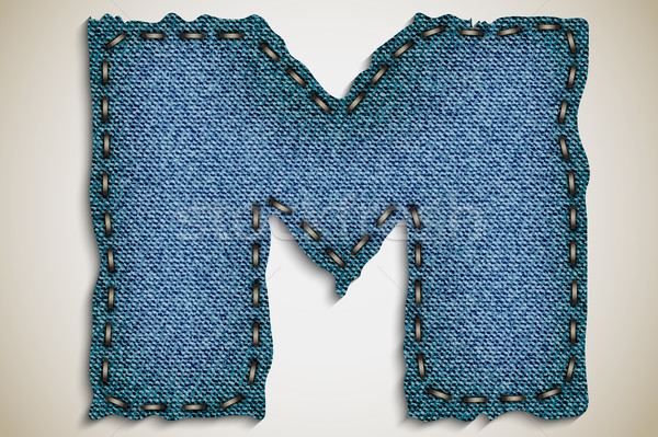джинсовой письме алфавит текстуры джинсов вектора Сток-фото © Panaceadoll