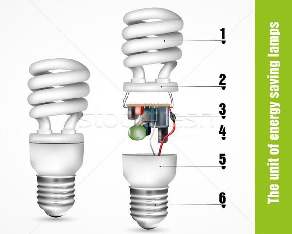 クリーン グリーンエネルギー ツリー 光 芸術 にログイン ストックフォト © Panaceadoll
