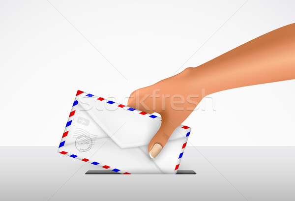 sending a letter in an envelope Stock photo © Panaceadoll