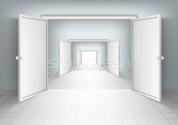 open doors in rooms Stock photo © Panaceadoll