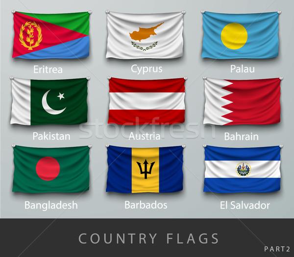 Golf land vlag schaduwen wereld afrika Stockfoto © Panaceadoll