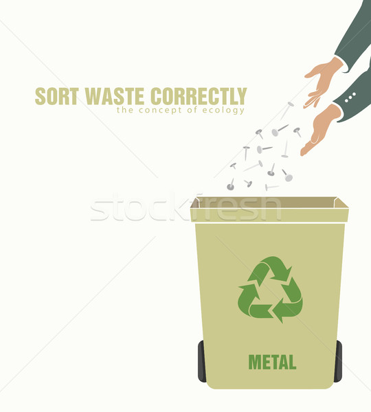 sorting metal, pollution of environment Stock photo © Panaceadoll