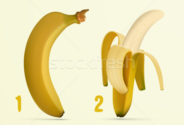 peeling banana peels Stock photo © Panaceadoll
