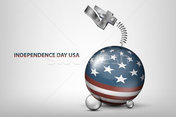 EUA dia ilustração bandeira data férias Foto stock © Panaceadoll