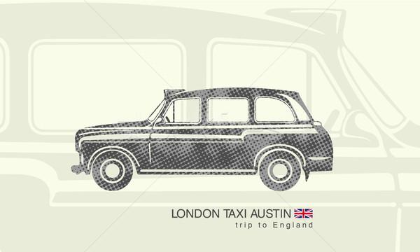 Aislado figura impresión Londres taxi austin Foto stock © Panaceadoll