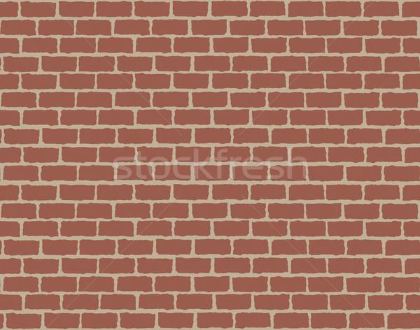 シームレス 赤 レンガの壁 パターン 建物 背景 ストックフォト © Panaceadoll