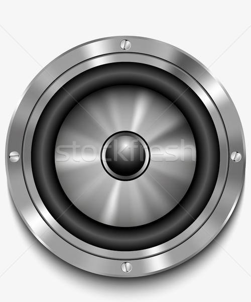 Icône haut-parleur vecteur audio fort orateur Photo stock © Panaceadoll