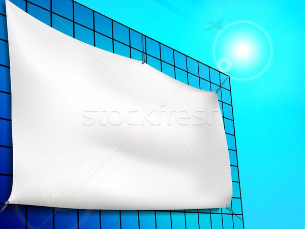 Blank billboard ad on the building Stock photo © Panaceadoll