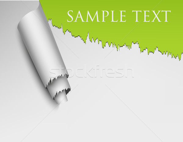 Ripped Wall Paper With Sample Text Stock photo © Panaceadoll
