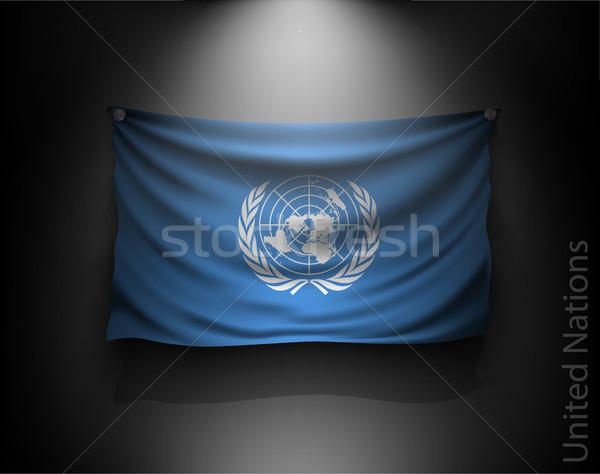 флаг темно стены Spotlight Сток-фото © Panaceadoll