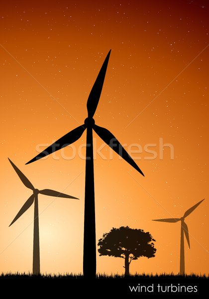 saving the environment. concept of ecology, renewable energy Stock photo © Panaceadoll