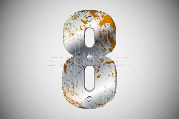Metal lettere alfabeto tecnologia segno industriali Foto d'archivio © Panaceadoll