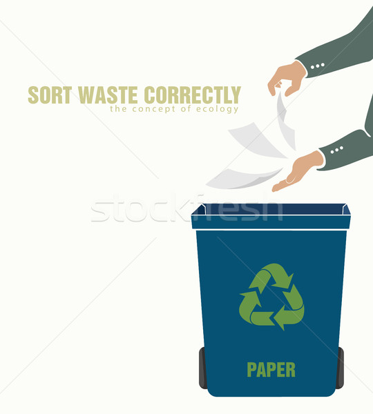 sorting paper, pollution of environment Stock photo © Panaceadoll