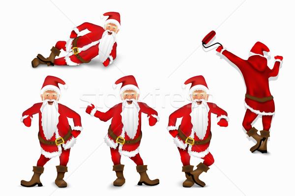 Set of vector Santa Claus Stock photo © Panaceadoll