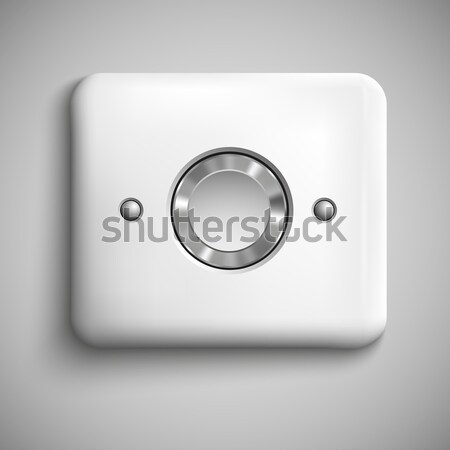 two red buttons realistic vector Stock photo © Panaceadoll