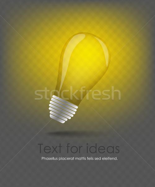 ベクトル アイデア ウェブのアイコン 光 産業 ストックフォト © Panaceadoll