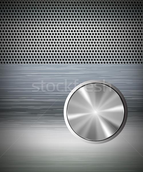 Metal botões cinza projeto ferramenta gráfico Foto stock © Panaceadoll