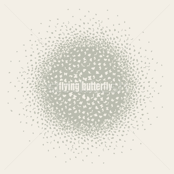 butterflies flying in a circle scatter in different directions. pastel Stock photo © Panaceadoll
