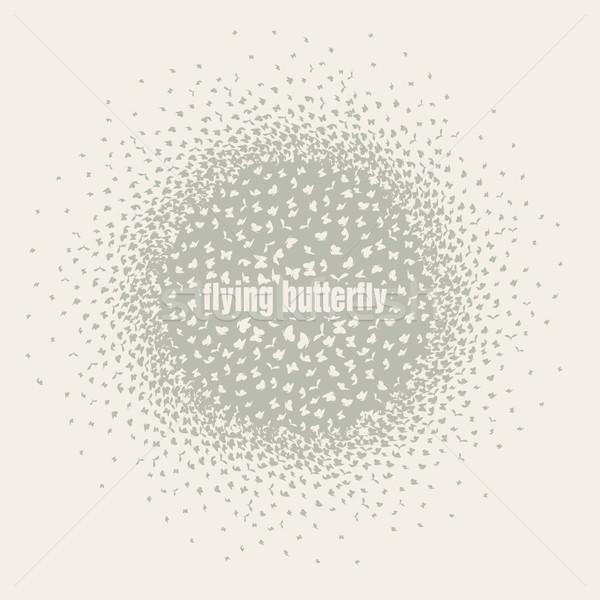 Farfalle battenti cerchio diverso indicazioni pastello Foto d'archivio © Panaceadoll