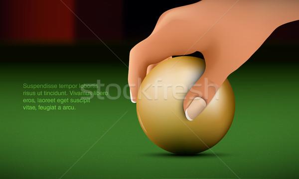 Mano palla biliardo tavola design piscina Foto d'archivio © Panaceadoll
