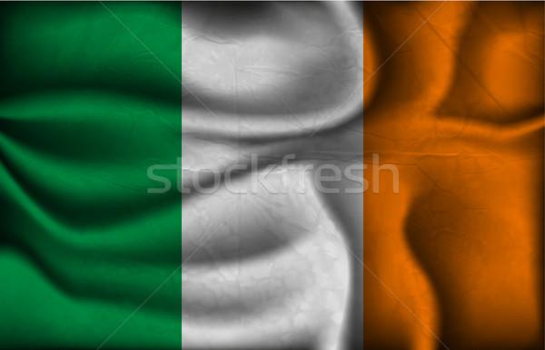 Onda país bandeira sombras mundo África Foto stock © Panaceadoll