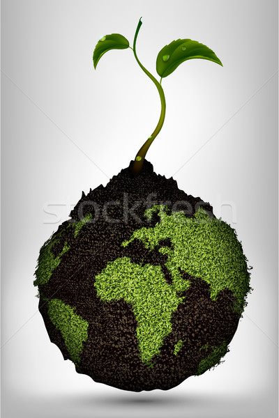 Groene energie planeet water boerderij energie plant Stockfoto © Panaceadoll
