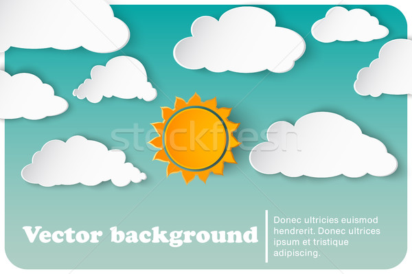 sunny-cloudy background paper Stock photo © Panaceadoll