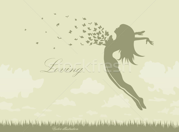 Stock photo: illustration of the beautiful girl