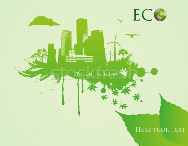 écologique herbe texture cadre signe espace Photo stock © Panaceadoll